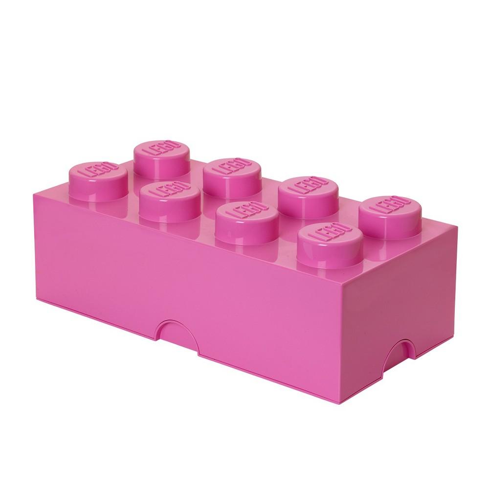 Lego 8 Brick Storage Case - Pink, Purple