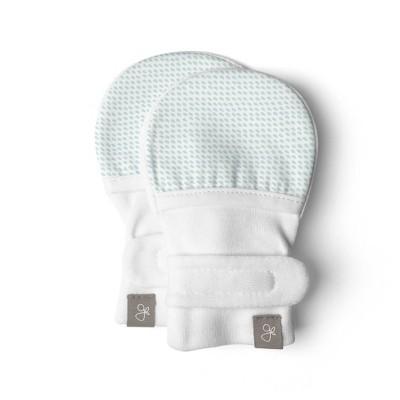 Goumi Baby Organic Cotton Drops Mittens – Aqua 0-3M