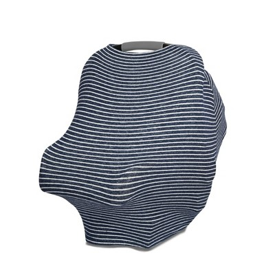 aden + anais Snuggle Knit Multi Use Cover - Navy Stripe