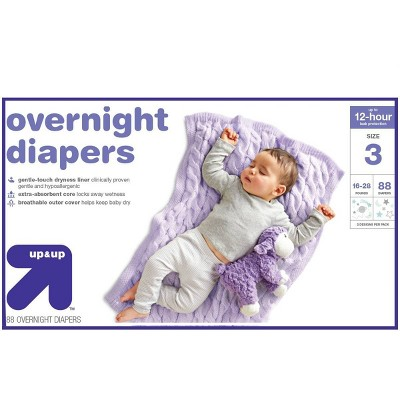 Overnight Diapers Size 3 - 88ct - Up&Up™
