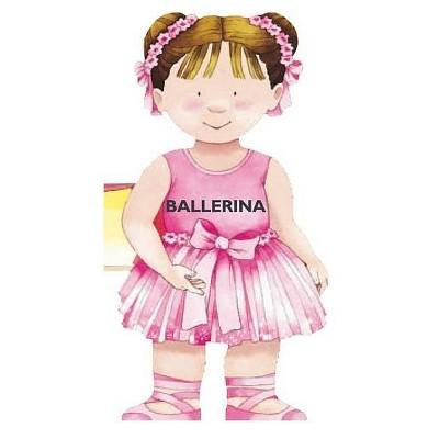 Ballerina - (Mini People Shape Books) by  Giovanni Caviezel (Board Book)