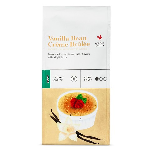 Vanilla Bean Crème Brulee Light Roast Ground Coffee - Decaf - 12oz - Archer Farms™ - image 1 of 3