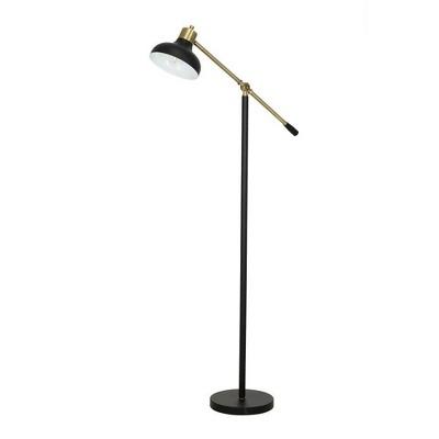 "59"" Counter Balance Floor Lamp (Includes LED Light Bulb) Black - Cresswell Lighting"