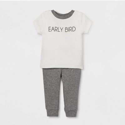 Weekend Soul Baby Early Bird Footed Sleeper - Ivory 3-6M