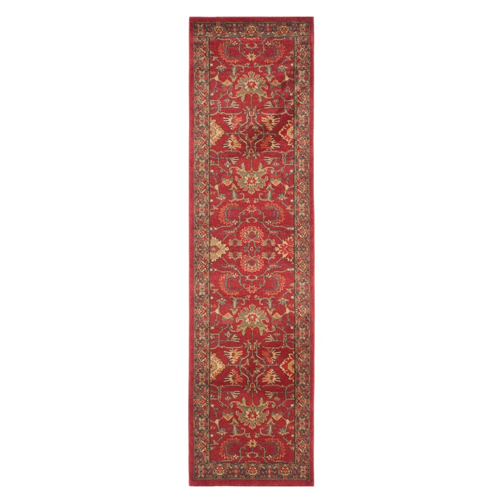 2'2X12' Medallion Runner Red/Navy (Red/Blue) - Safavieh