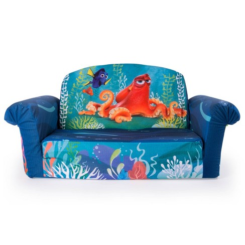 Fine Marshmallow Furniture Childrens 2 In 1 Flip Open Foam Sofa Disney Pixar Finding Dory By Spin Master Pabps2019 Chair Design Images Pabps2019Com