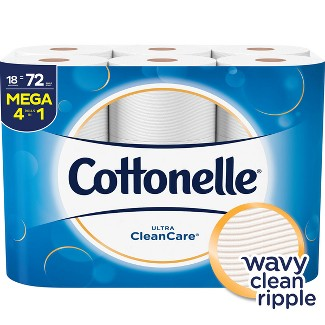 Cottonelle Ultra Clean Care Toilet Paper - 18 Mega Rolls