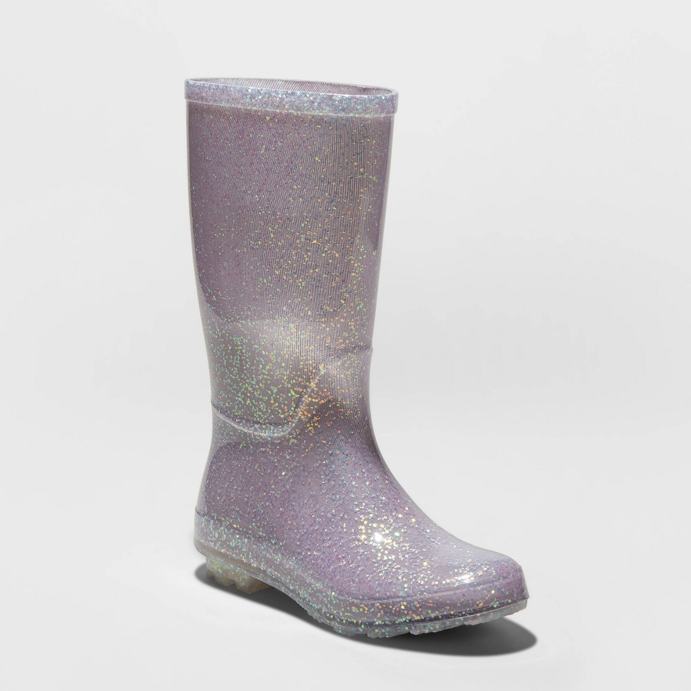 Image of Girls' Evelyn Rain Boots - Cat & Jack Gray 1, Girl's