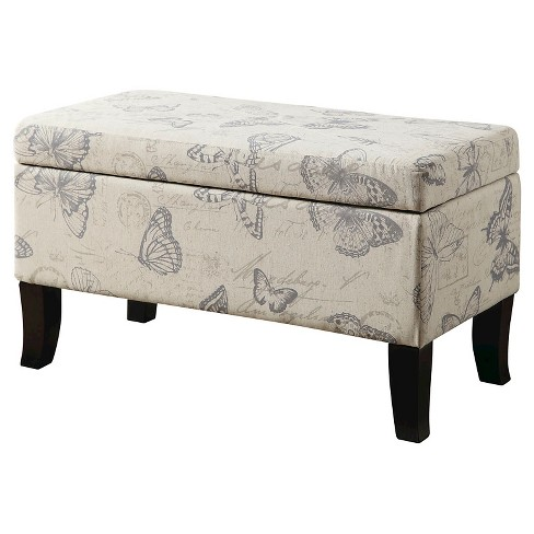 Winslow Butterfly Storage Ottoman - Convenience Concepts - image 1 of 5