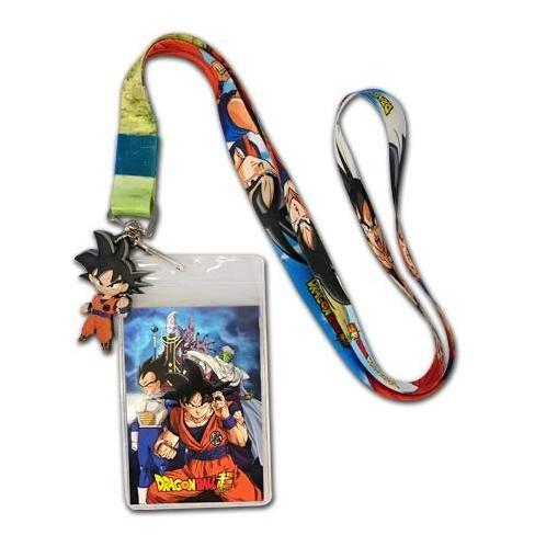 Dragon Ball Z Anime Lanyard Keychain ID Holder DBZ Symbols New