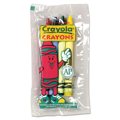 Crayola Classic Color Pack Crayons Cello Pack 4 Colors 4/Pack 360 Packs/Carton 520083