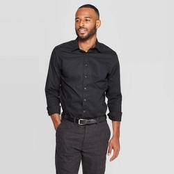 Men's Standard Fit Long Sleeve Dress Button-Down Shirt - Goodfellow & Co™