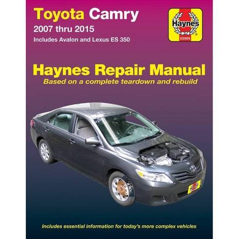 Toyota Camry & Avalon & Lexus Es 350, 2007-2015 - (Haynes Automotive) 2 Edition (Paperback) - image 1 of 1