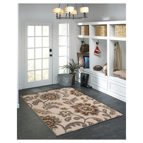 Maples Paisley Floral Area Rug Tan 4 X5 6 Target