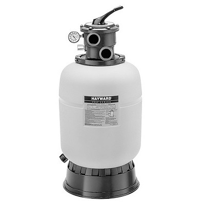 Hayward W3S166T1580S Thermoplastic Above-Ground Pool Pro-Series 7-Position VariFlo Valve Top-Diffuser Sand Filter with 1HP PowerFlo LX Pump, White