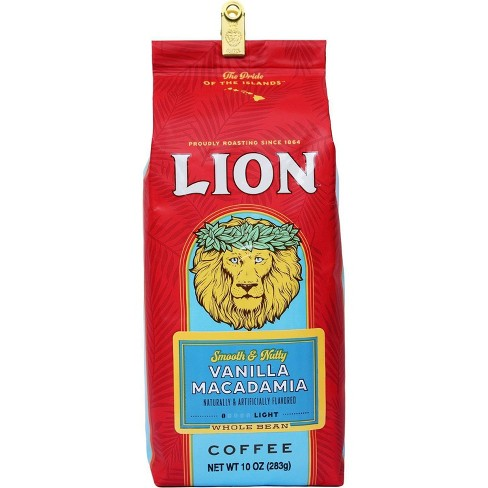Lion Coffee Vanilla Macadamia Medium Roast Whole Bean Coffee - 10oz - image 1 of 1