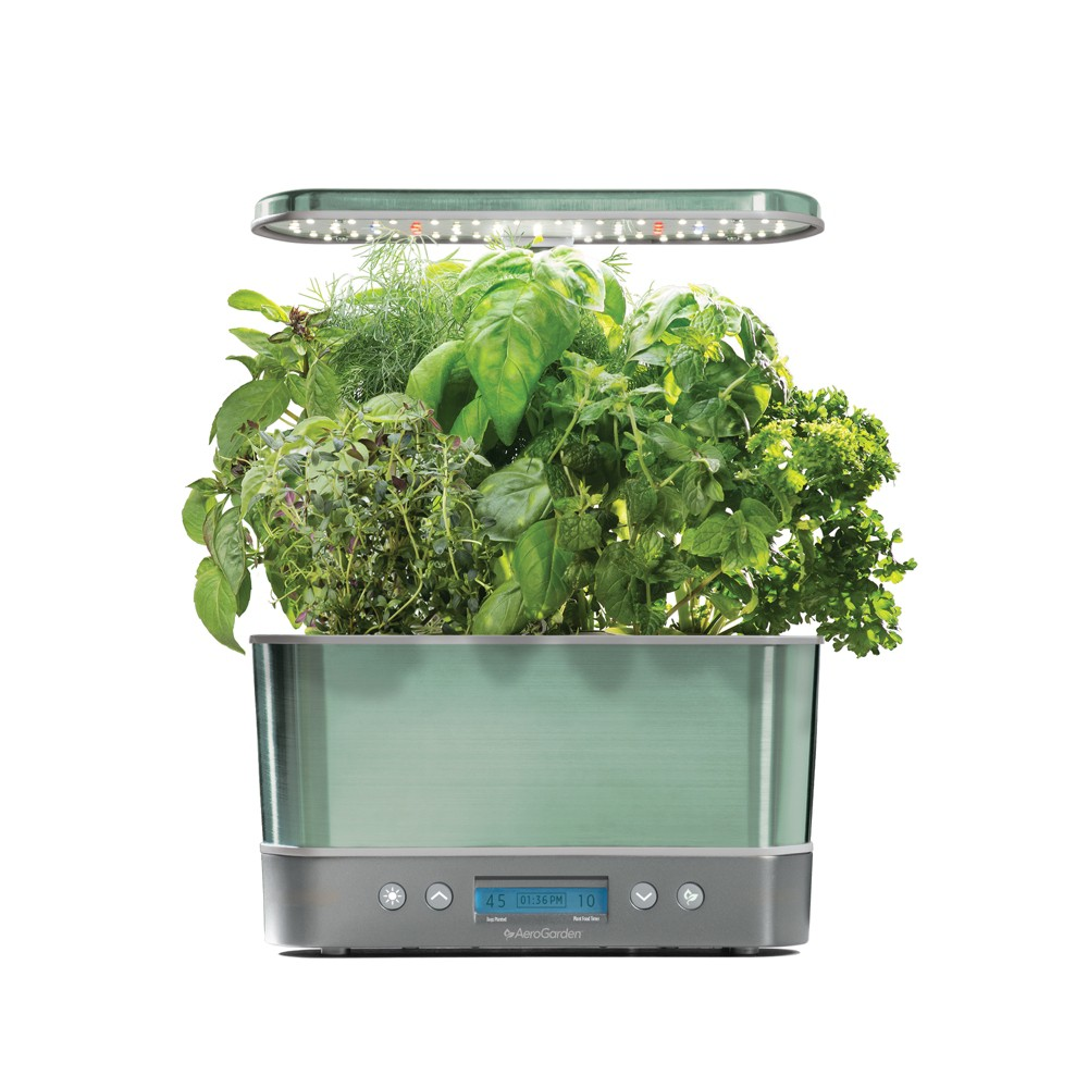 Image of AeroGarden Harvest Elite with Gourmet Herbs 6-Pod Seed Kit - Sage (Green)
