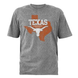 NCAA Texas Longhorns Men's Short Sleeve Gray T-Shirt