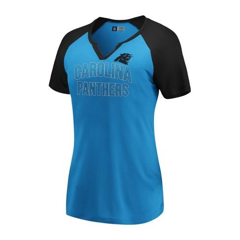 buy popular 37fe5 c3c1a NFL Carolina Panthers Women's Extreme Difference Notch Neck T-Shirt - M