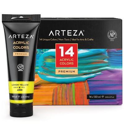 Arteza Premium Acrylic Artist Paint Set, 120ml Tubes - 14 Pack (ARTZ-8154)