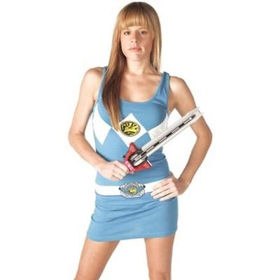 Mighty Fine Power Rangers Blue Power Ranger Adult Tank Dress
