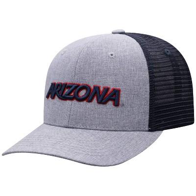 NCAA Arizona Wildcats Men's Gray Chambray with Hard Mesh Snapback Hat