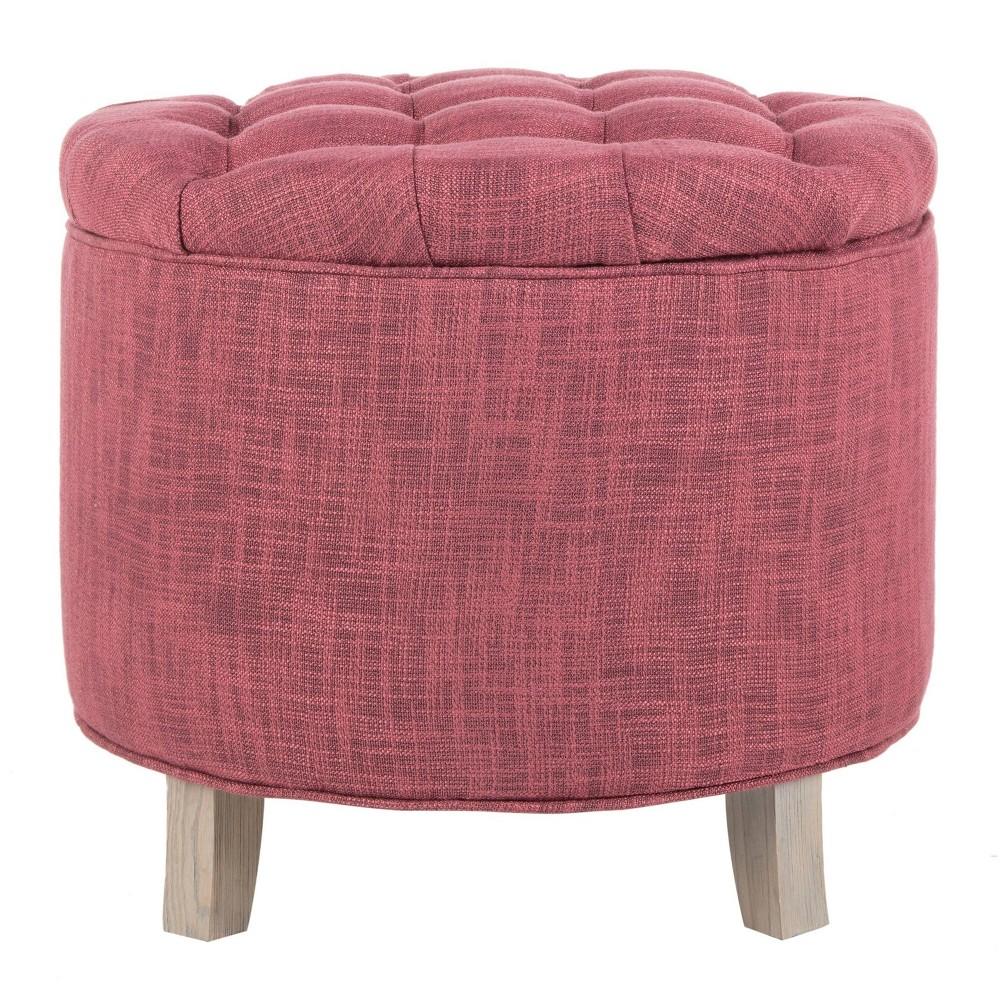 Amelia Tufted Storage Ottoman Light Pink - Safavieh Price
