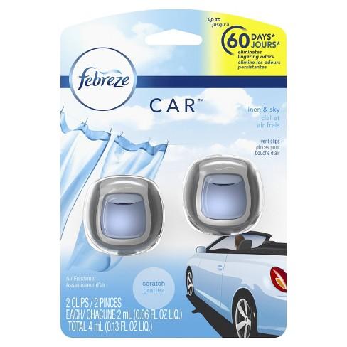 Febreze Car Air Freshener Linen & Sky - 2ct - image 1 of 8