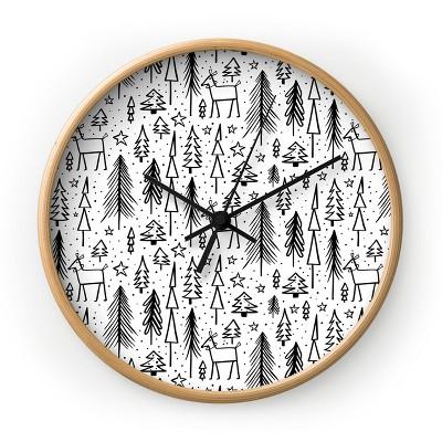 Heather Dutton Winter Wonderland White Round Clock