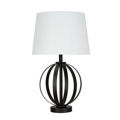 """20"""" Metal Cage Table Lamp (Includes LED Light Bulb) - Cresswell Lighting"""