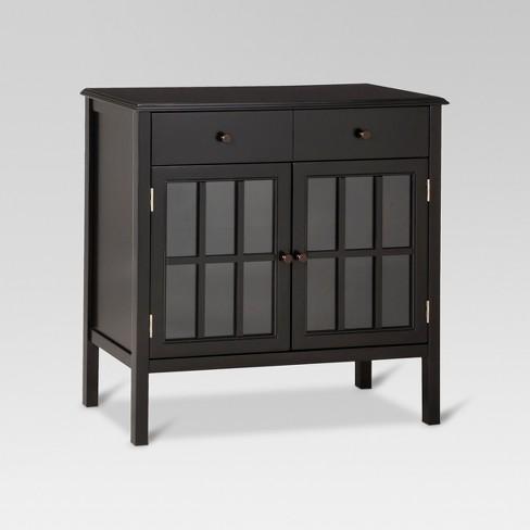 Windham Storage Cabinet With Drawer Black Threshold Target