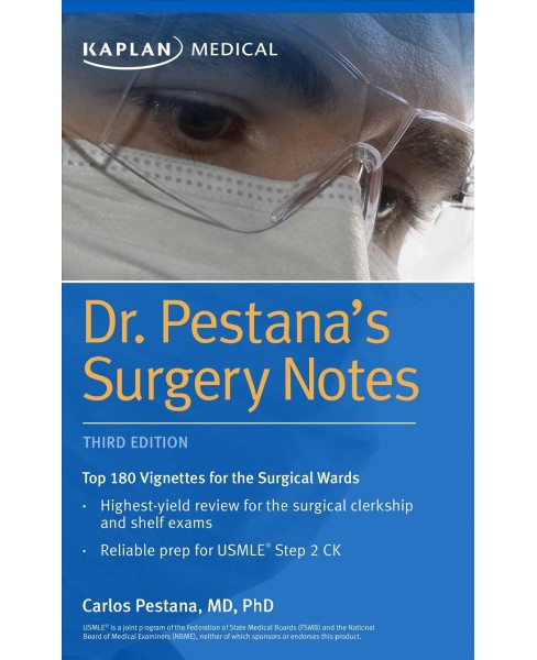 Dr. Pestana's Surgery Notes : Top 180 Vignettes for the Surgical Wards (Paperback) (Carlos Pestana) - image 1 of 1