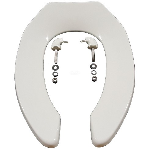 Awe Inspiring Zurn Z5955Ss El Elongated Standard White Open Front Toilet Seat Less Cover Creativecarmelina Interior Chair Design Creativecarmelinacom
