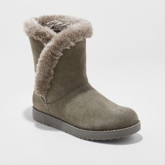 Womens Daniah Suede Winter Boots - Universal Thread™ Gray 10