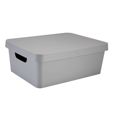 Simplify Medium Storage Box with Lid Gray