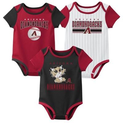MLB Arizona Diamondbacks Baby Boys' 3pk Bodysuit Set