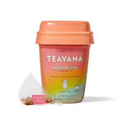 Teavana Beach Bellini, Herbal Tea With Pieces of Pineapple and Mango, 12 Sachets