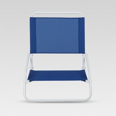 Outdoor Portable Beach Chair - Blue - Evergreen
