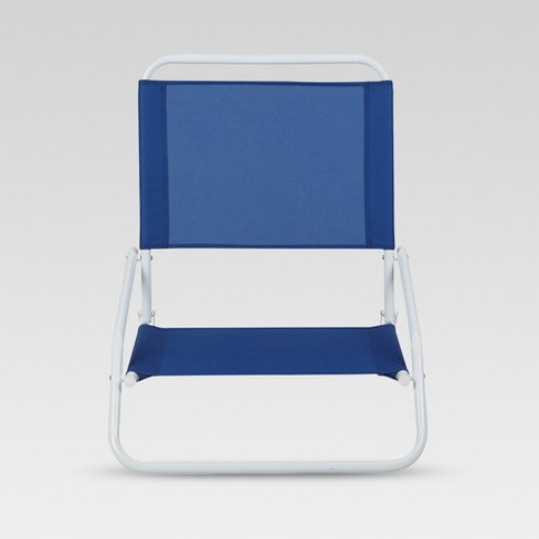 Outdoor Portable Beach Chair Blue Evergreen