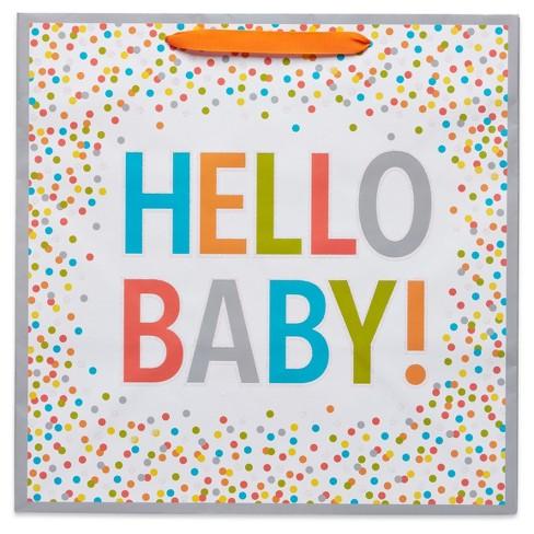 91e5d8685 Gift Bag Hello Baby On White - Spritz™ : Target