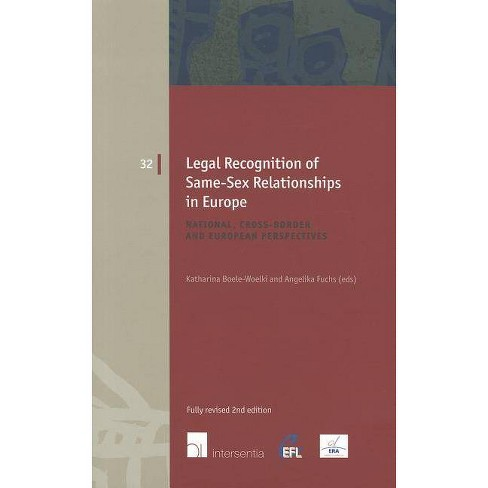 Legal Recognition of Same-Sex Relationships in Europe - (European Family Law) 2 Edition (Paperback) - image 1 of 1