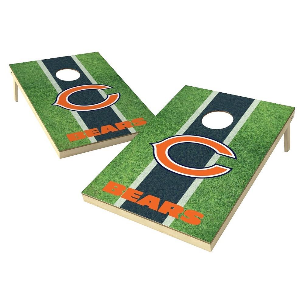 Chicago Bears Wild Sports Field Shield Cornhole Bag Toss Set - 2x3 ft.