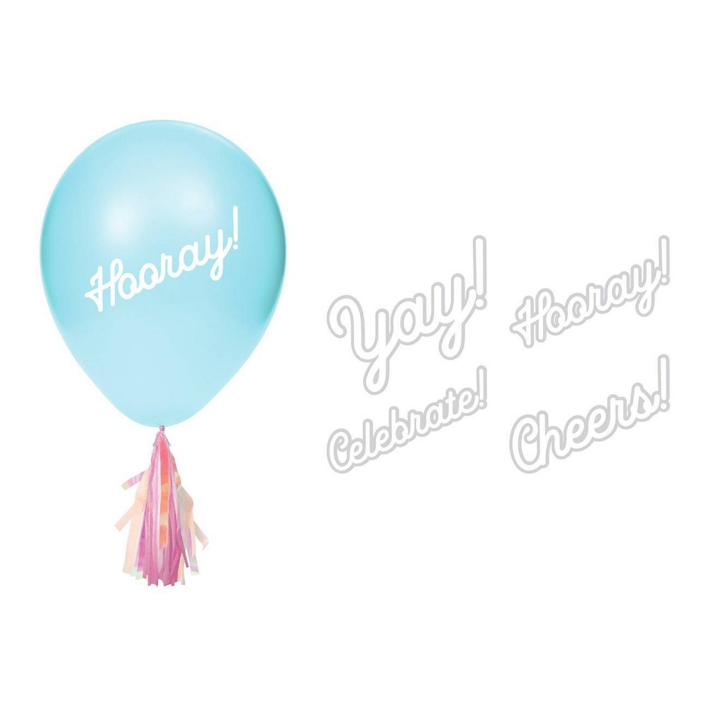 8ct Iridescent Party Balloon Stickers