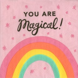 "20ct ""You are Magical"" Unicorn Lunch Napkin - Spritz™"