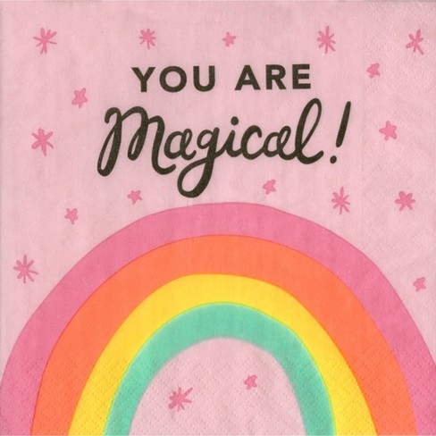 """20ct """"You are Magical"""" Unicorn Lunch Napkin - Spritz™ - image 1 of 3"""