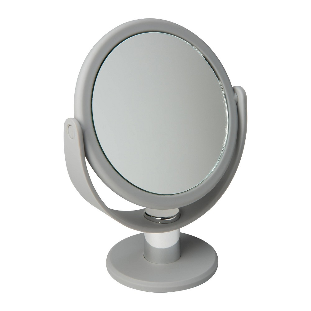 """Image of """"5"""""""" Vanity Rubberized Mirror 1X-10X Magnification Gray - Home Details"""""""