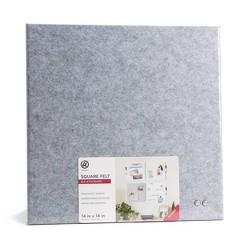 "U-Brands 14"" Square Felt Bulletin Board Gray"