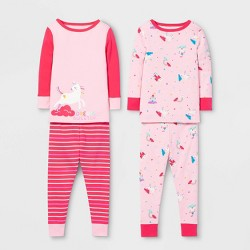 Toddler Girls' Unicorn Pajama Set - Cat & Jack™ Pink