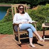 All-Weather Rocking Chair with Faux Wood Design - Single - Brown - Sunnydaze Decor - image 3 of 4