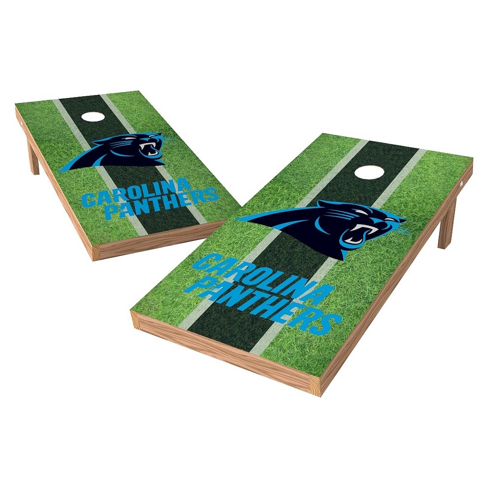 Carolina Panthers Wild Sports XL Shield Field Cornhole Bag Toss Set - 2x4 ft.